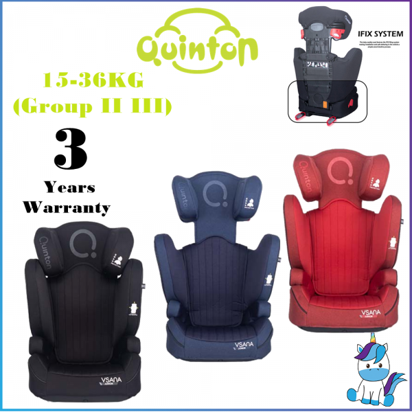 Quinton Vsana iFix Booster Seat ISOFIT - ECE( R44/04) 9-36KGs Group I II III - 3 Years Warranty
