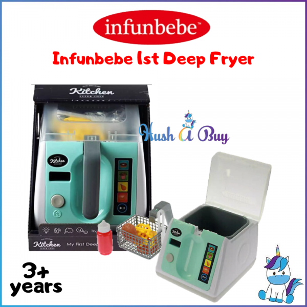 Infunbebe My First Deep Fryer Kitchen Play Toy With Utensils - 3 Years+