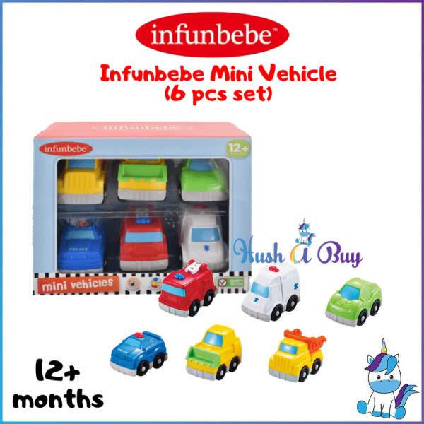 Infunbebe Mini Vehicle - 6 pcs Set