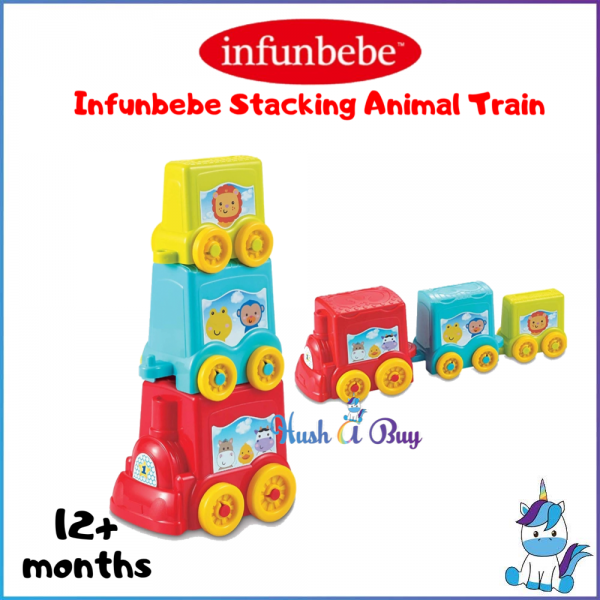 Infunbebe Stacking Animal Train 6+M