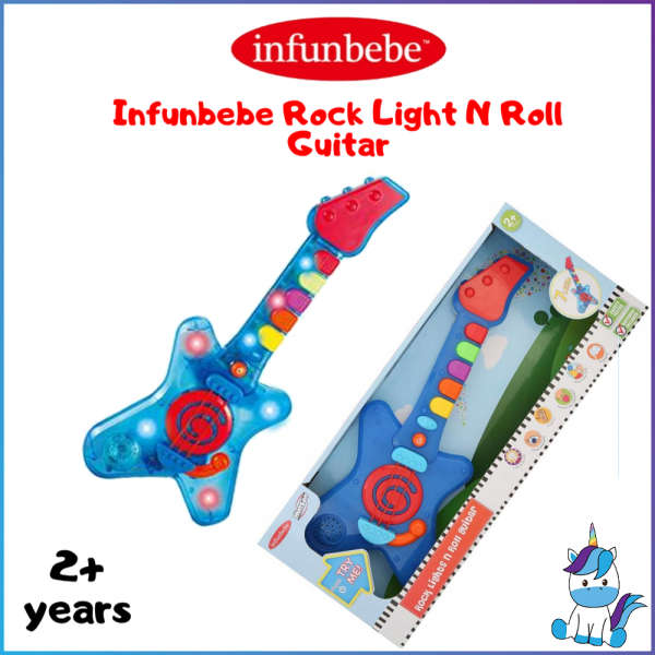 Infunbebe Rock Light N Roll Guitar with Music and Light