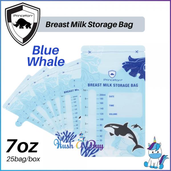 Princeton Milk Storage Bag 7oz  - Green Elephant / Blue Elephant