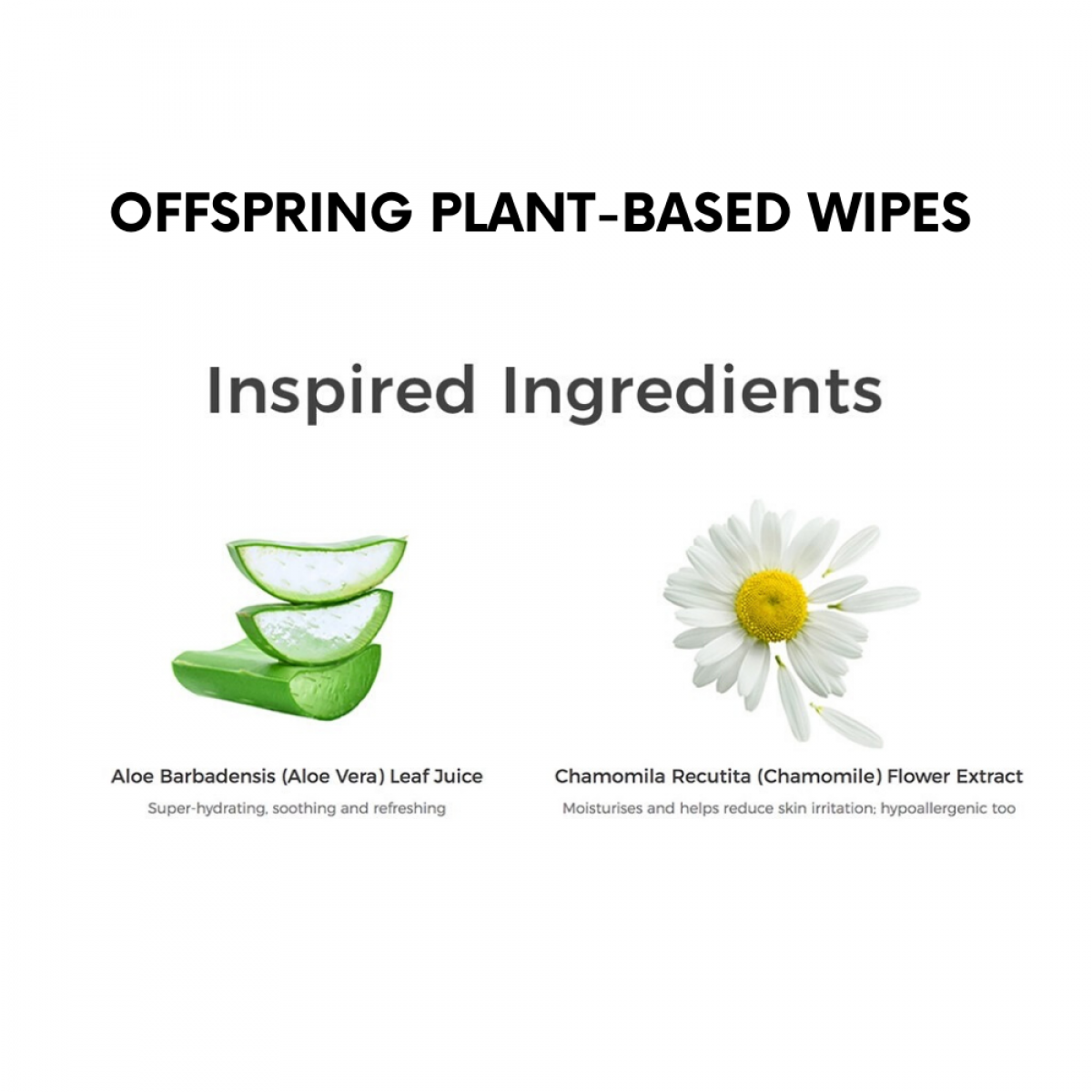 Offspring Premium Ultra-Soft Eco-Friendly Plant Based Wipes 20pcs / 80pcs