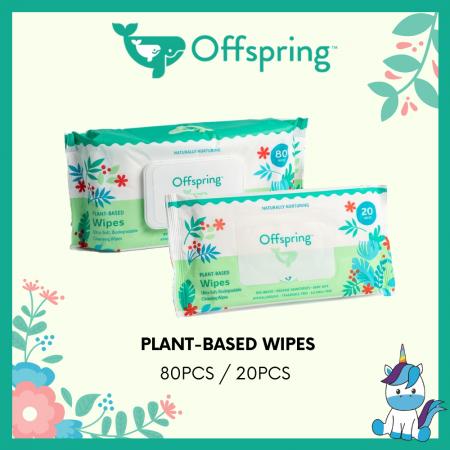 Offspring Premium Ultra-Soft Eco-Friendly Plant Based Wipes 20pcs / 80pcs