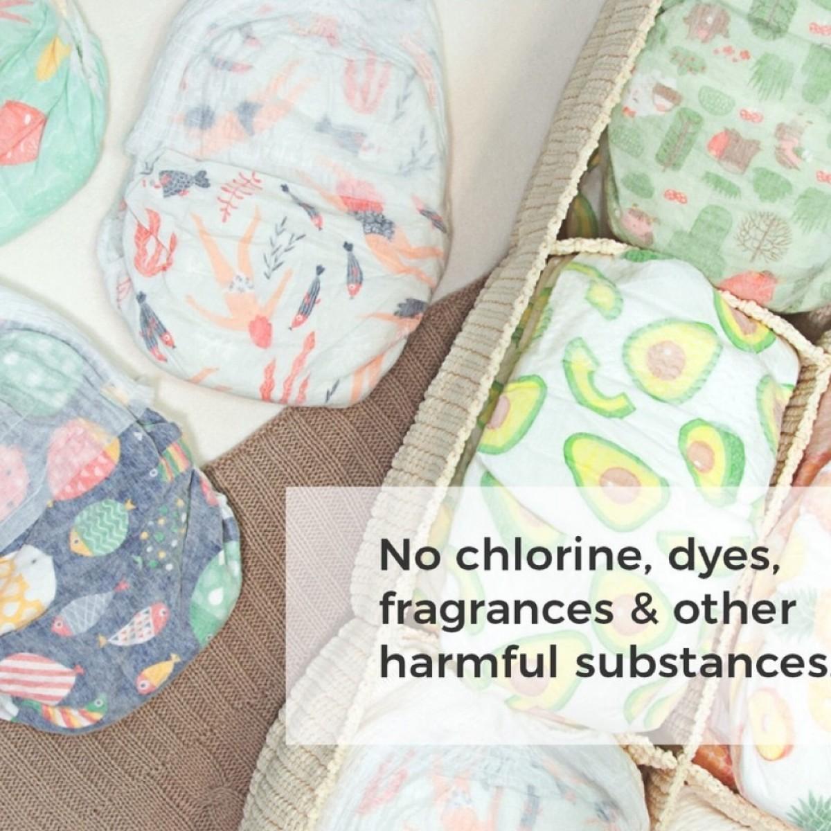Offspring Chroline-Free Fashioned Tape Diaper XL 30pcs - 9 Designs