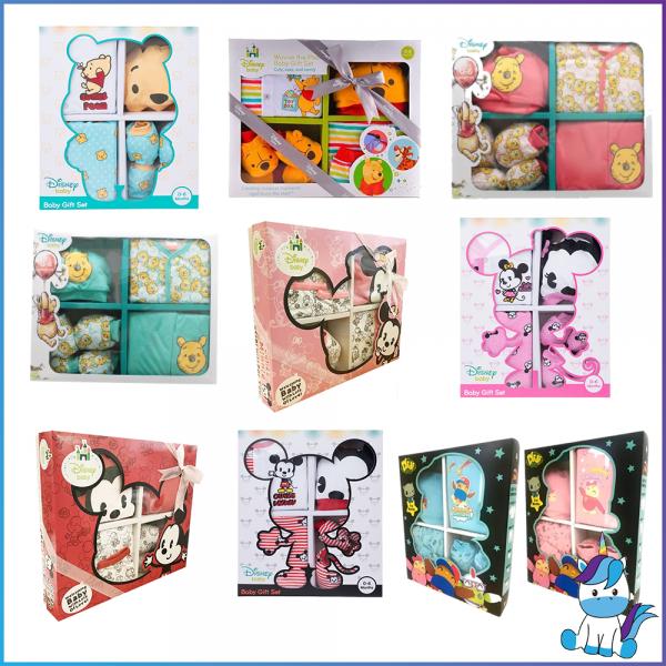 Disney Baby Gift Set 5pcs (For 0-6 months)- Mickey // Minnie // Winnie The Pooh // Didi