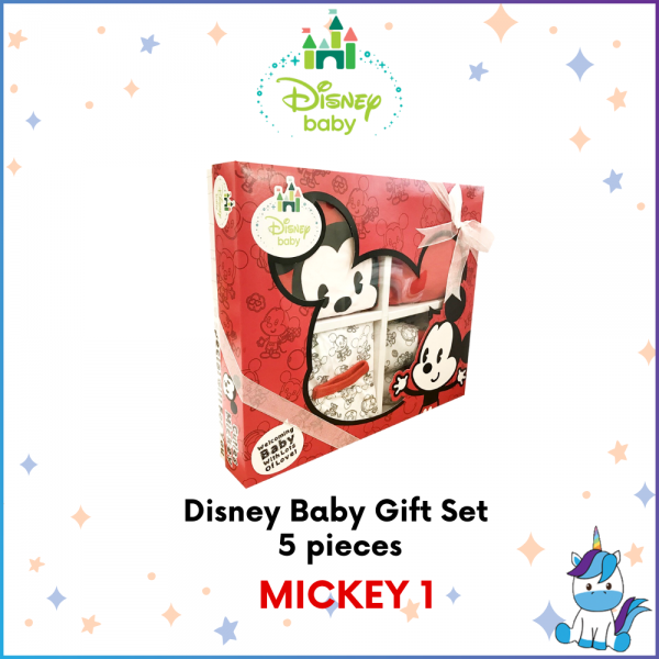 Disney Series Baby Gift Set 5pcs (For 0-6 months)- Mickey // Minnie // Winnie The Pooh // Didi