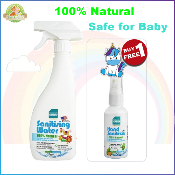 BabyOrganix Naturally Kinder Sanitizing Water 400ml FREE Hand Sanitizer