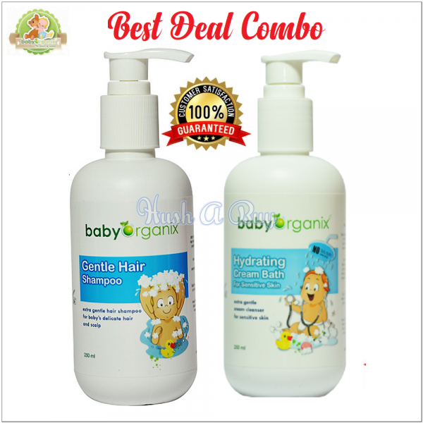 BabyOrganix Gentle Hair Shampoo & Hydrating Cream Bath