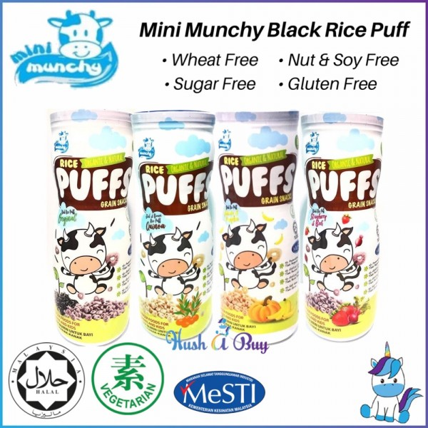 Mini Munchy Black Rice Puff - Halal (45gm) - for 8+ Months