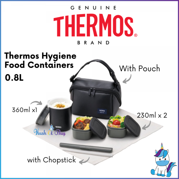 Thermos DBQ Series Hygiene Food Container With Chopstick and Pouch 800ml