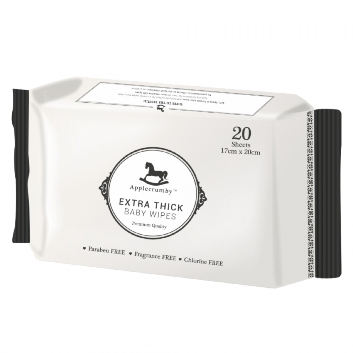 Applecrumby™ Extra Thick Premium Baby Wipes (20 sheets)