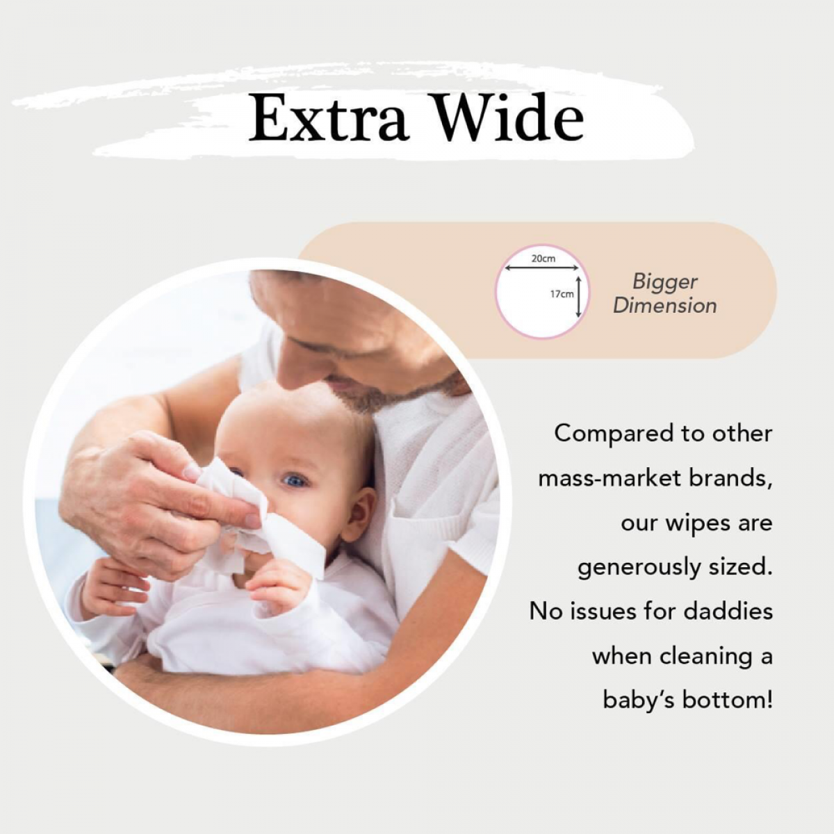 3 PACKS - Applecrumby™ Extra Thick Premium Baby Wipes (20 sheets/pack)  - Total 60pcs