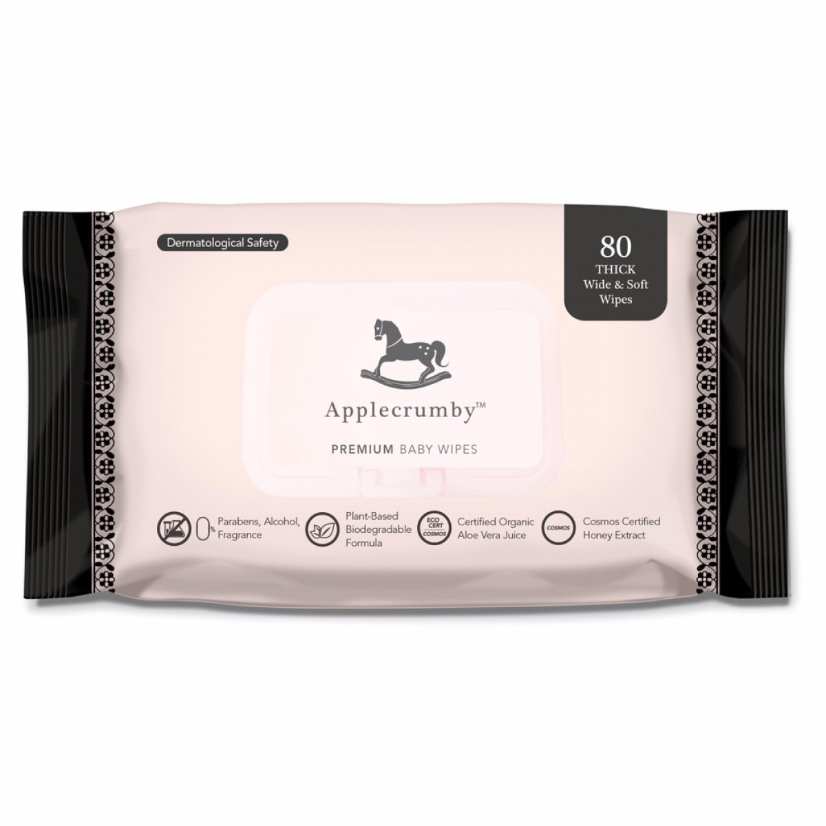 2 PACKS - Applecrumby™ Extra Thick Premium Baby Wipes (80 sheets)