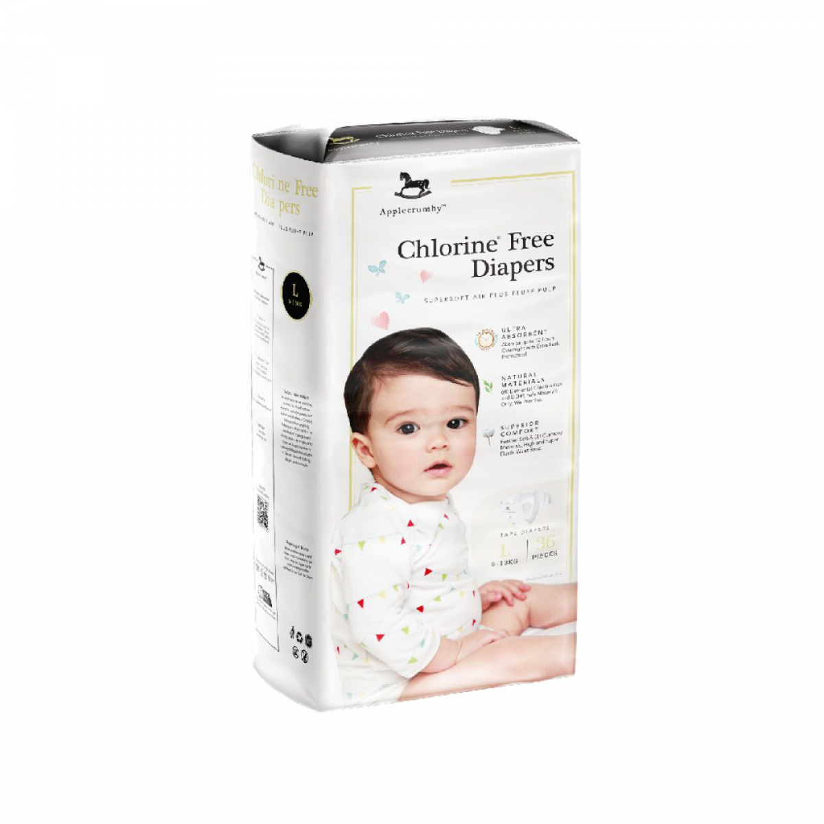 Applecrumby™ Chlorine Free Premium Baby Diapers TAPE // PULL-UP