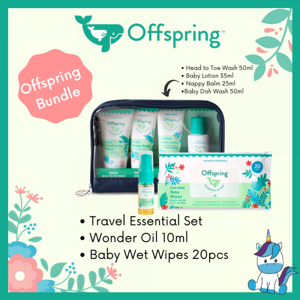 Offspring Travel Pack + Wonderoil FREE Offspring Wet Tissue 20pcs