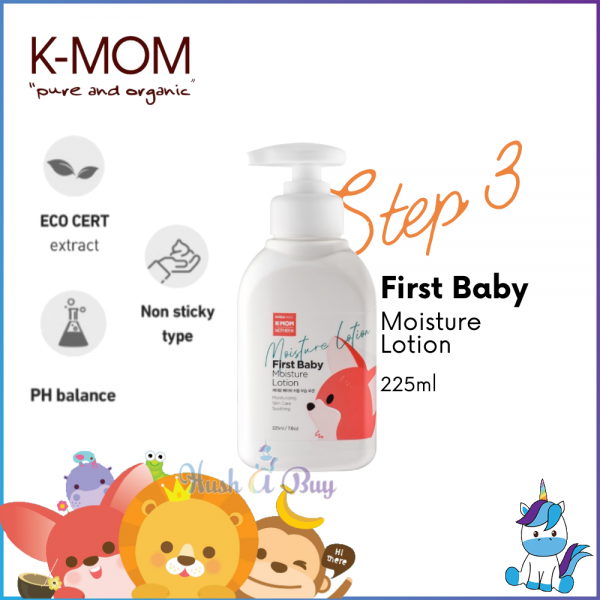 K-Mom First Baby Moisture Lotion 225ml - STEP 3