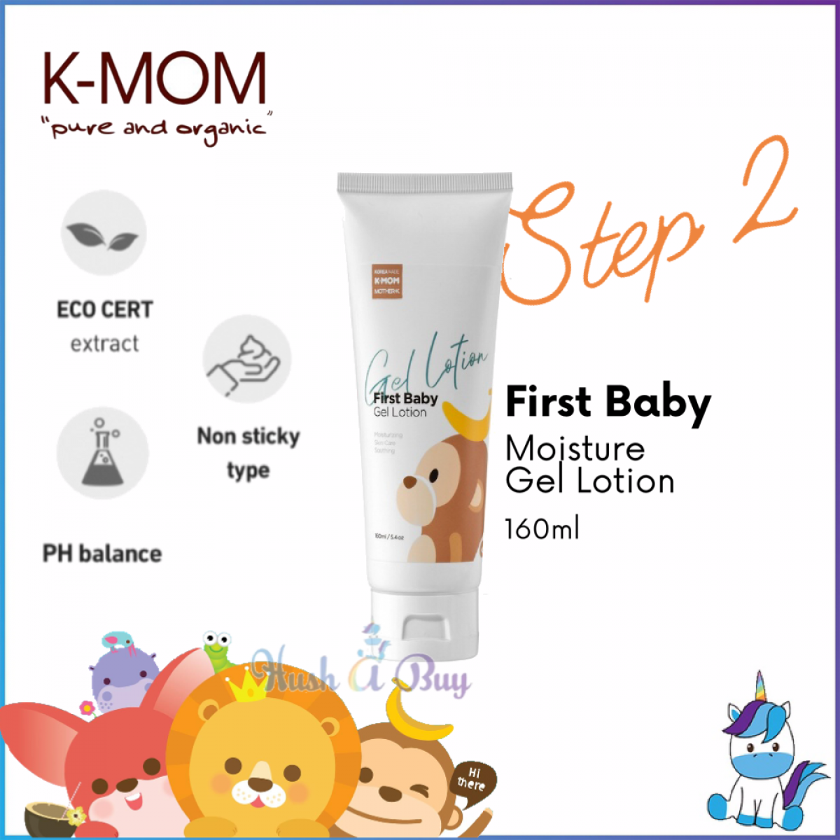 K-Mom First Baby Moisture Gel Lotion 160ml - STEP 2