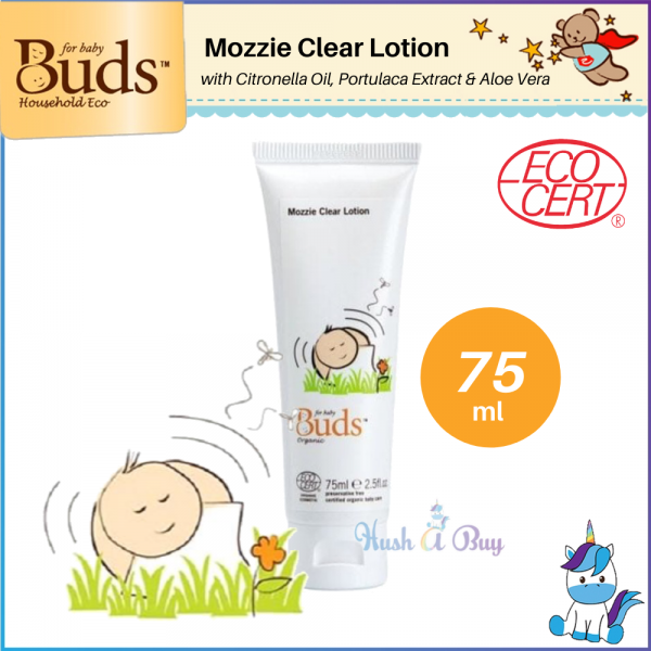 Buds Cherished Organic Mozzie Clear Lotion 75ml