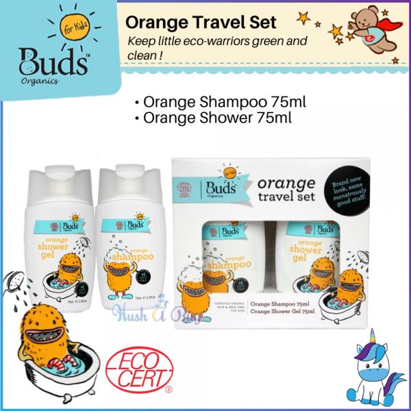 Buds BFK Orange Travel Set - Orange Shampoo 75ml + Orange Shower Gel 75ml