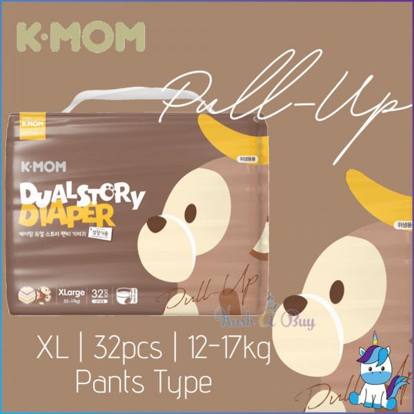 K-Mom Dual Story Pull Up Diapers - XL 32pcs /12-17kg