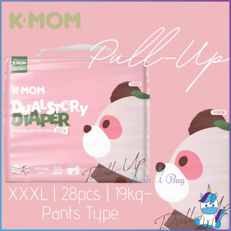 K-Mom Dual Story Pull Up Diapers - 3XL 28pcs / 19kg~