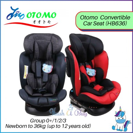 Otomo ISOFIX 360 Convertible Car Seat HB636 - 1 Year Warranty, ECE Certified