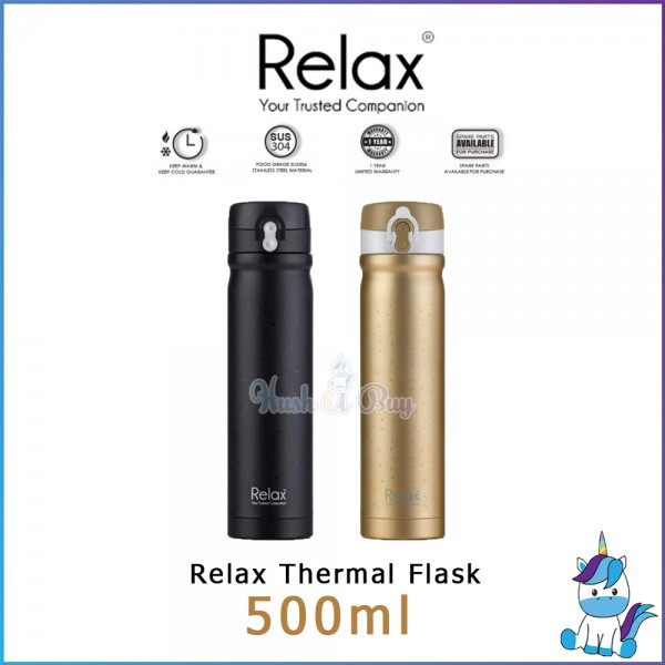 Relax D2450 Stainless Steel Thermal Flask 500ml -Metallic Gold/Matt Black