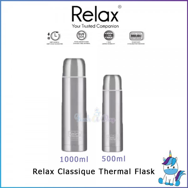 Relax Stainless Steel Thermal Flask 500ml / 1000ml