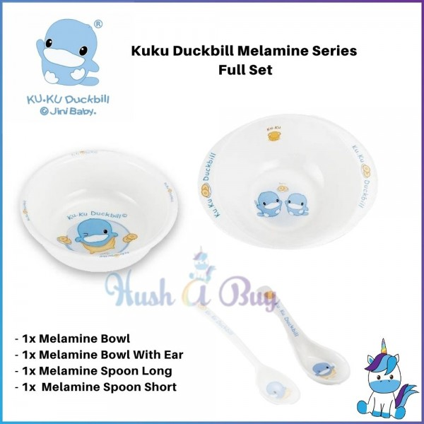 Kuku Duckbill Melamine Series Set - Bowl / Spoon