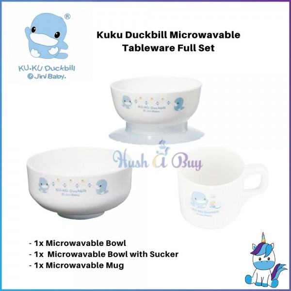 Kuku Duckbill Microwavable Tableware Set - Bowl / Bowl With Sucker / Mug