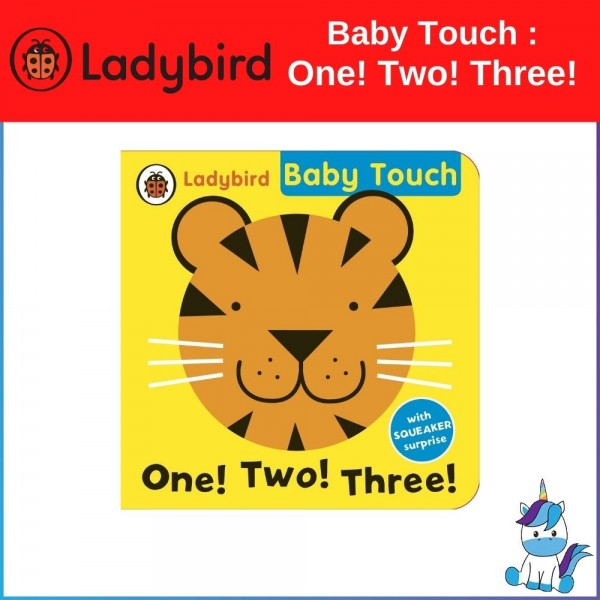 Ladybird Baby Touch One! Two! Three! Bath Book With Squeaker Surprise!