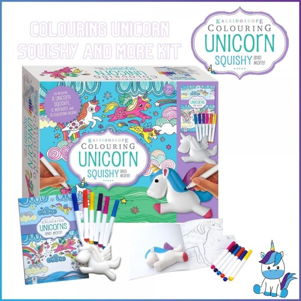 Kaleidoscope Colouring UNICORN Squishy and More Kit