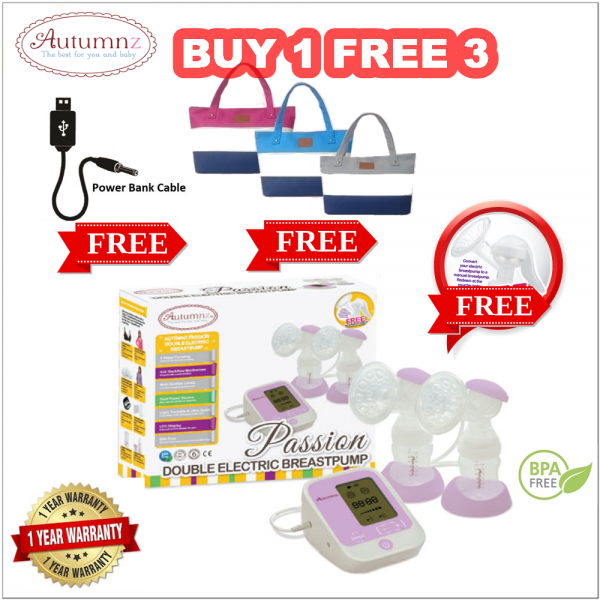 Autumnz PASSION Convertible Double Electric/Manual Breastpump (BUY 1 FREE 3)