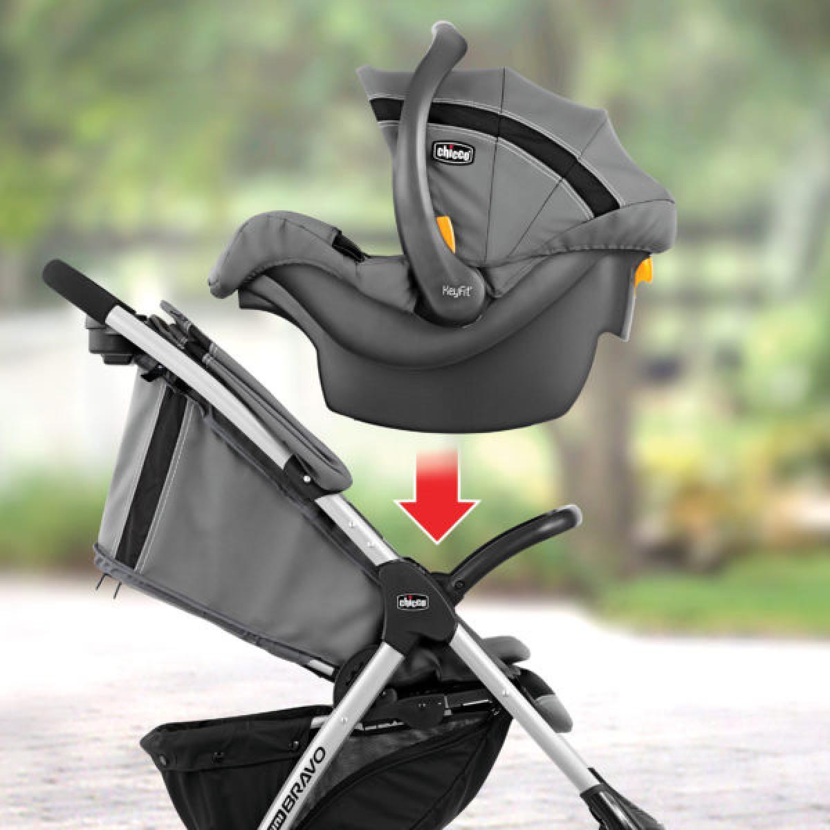 Chicco Mini Bravo Plus Travel System (Stroller + Carrier)
