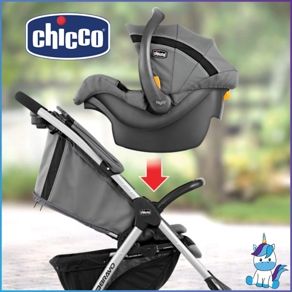 Chicco Mini Bravo Plus Travel System (Stroller + Carrier)