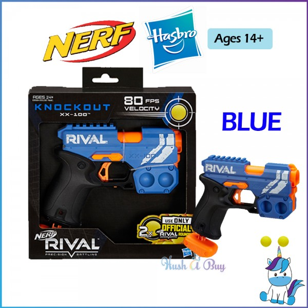 Hasbro Nerf Rival Knockout XX-100 (With 2x Rounds) - Blue / Red