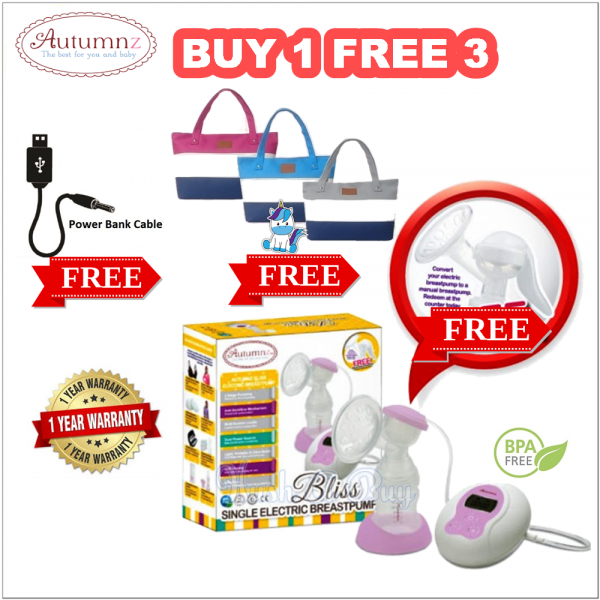 Autumnz BLISS Single Electric Breastpump (BUY 1 FREE 3)