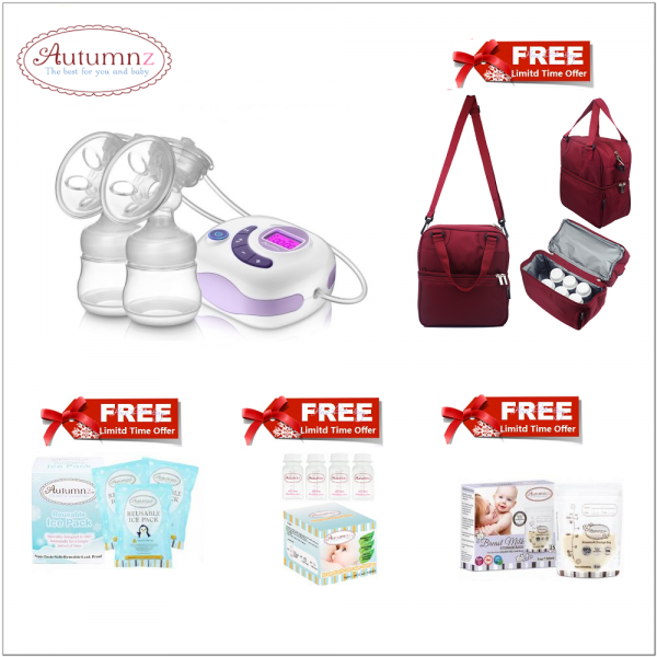 Autumnz  SERENE Double Electric Breastpump (FREE BREASTFEEDING PACKAGE)