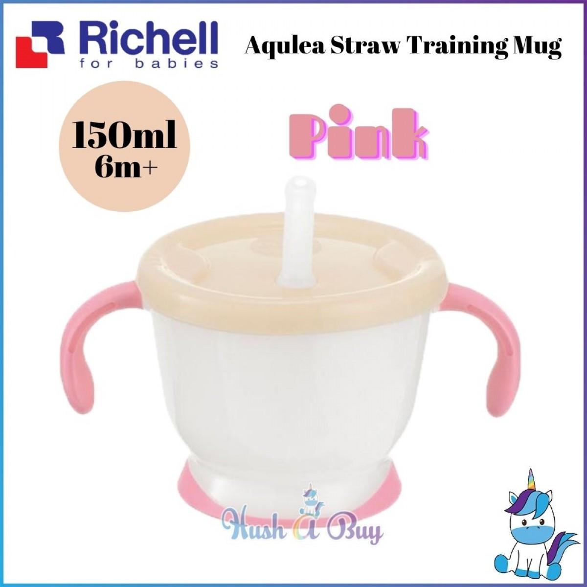 Richell Aqulea Straw Training Mug 150ml 6+m