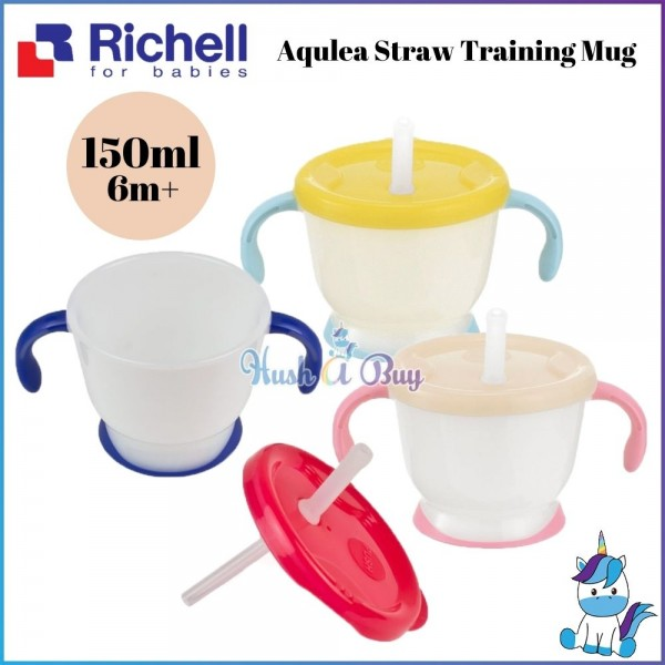 Richell Aqulea Straw Training Mug 150ml 6+m