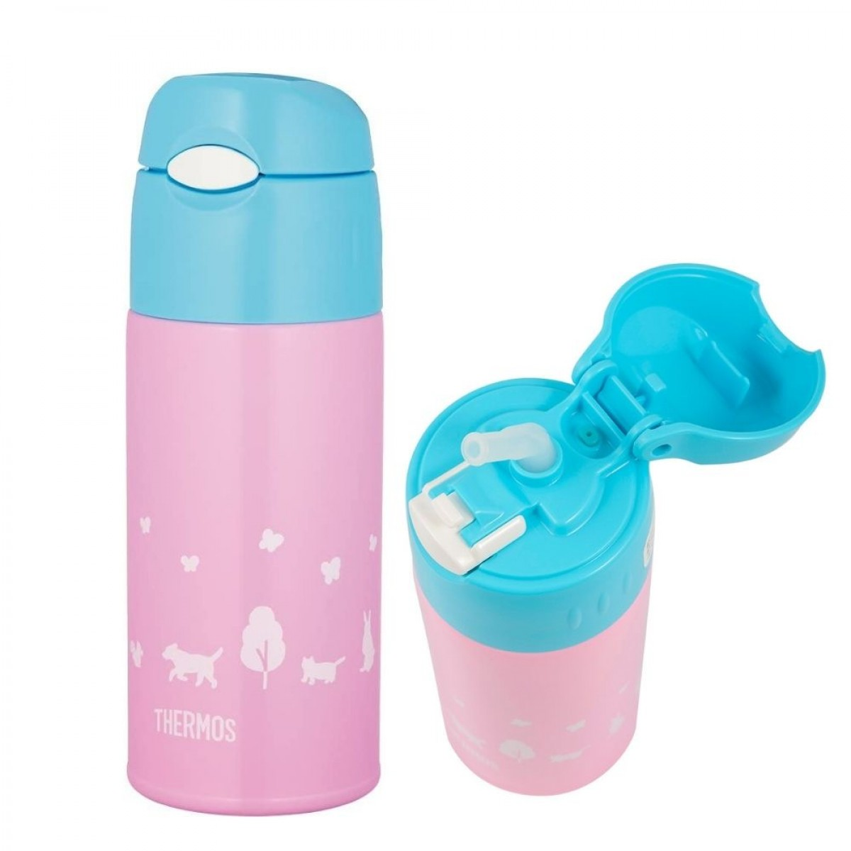 Thermos Ice Cold Bottle With Bag 400ml FREE SPARE STRAW - 5 Years Warranty from Thermos Malaysia