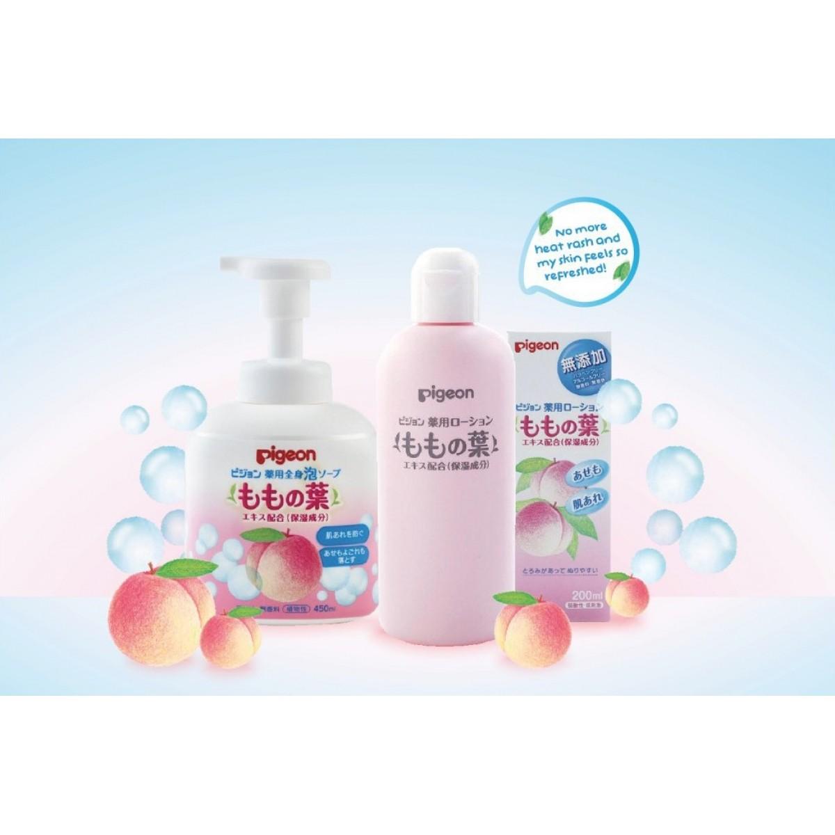 Pigeon Momo Baby Peach Leaf Foam Soap 450ml