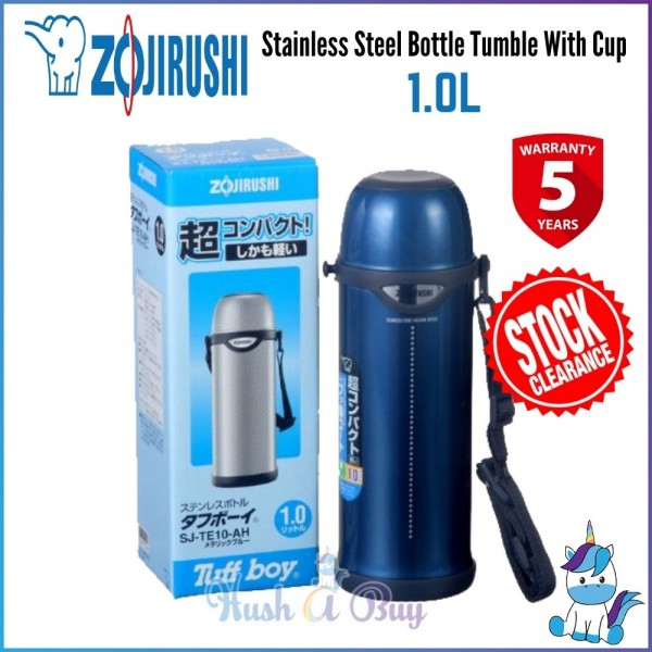 Zojirushi Stainless Steel Bottle Tumble With Cup 1.0L [STOCK CLEARANCE]