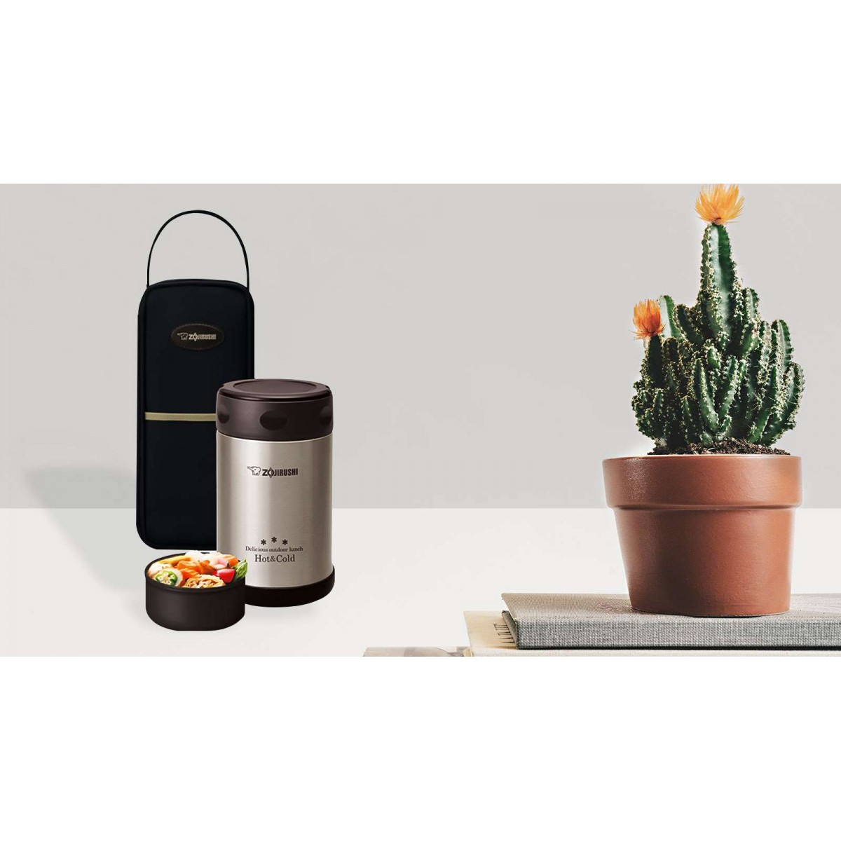 Zojirushi Stainless Steel Food Jar with Bag 17oz. / 0.5L [STOCK CLEARANCE]