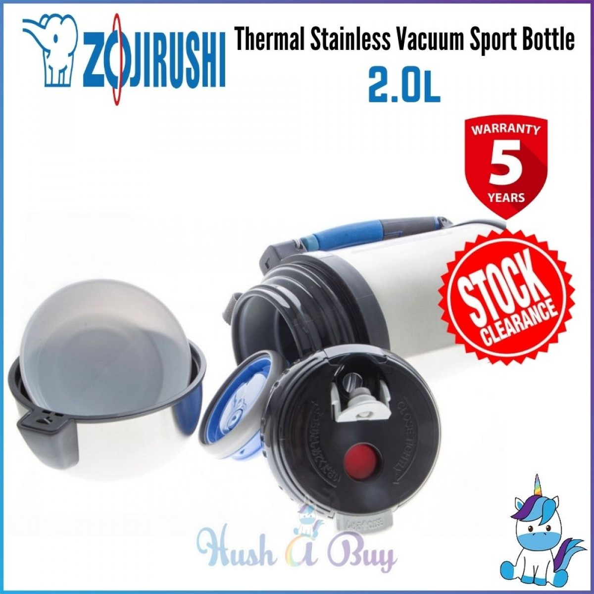 Zojirushi Thermal Stainless Vacuum Sport Bottle with Cup 2.0L [STOCK CLEARANCE]