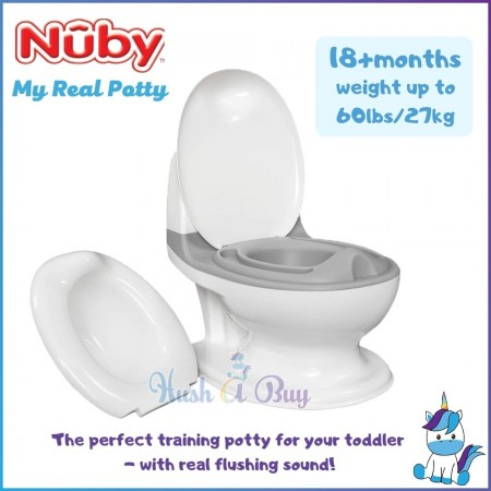 Nuby My Real Potty Mini Size Toilet: 18+m (Weight up to 60lbs / 27kg)