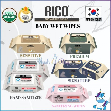 Rico Baby Wet Wipes: The Mother's Choice [Made in KOREA]