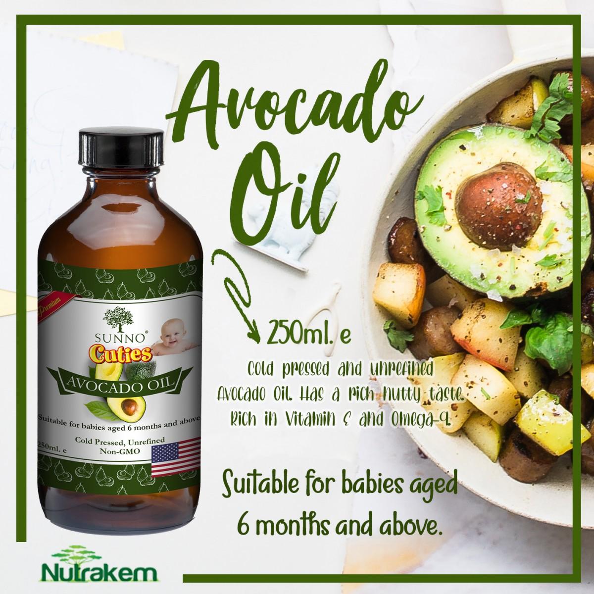 SUNNO Cuties Cold Pressed Oil Series Trinity Bundle (Walnut, Organic Flaxseed & Avocado Oil) 60ml