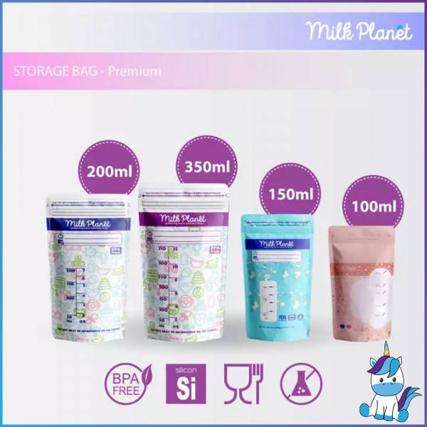 Milk Planet Premium Breast Milk Storage Bag/Beg Susu 3.5oz/5oz/7oz/12oz